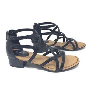 b.o.c Pecan Black Strappy Sandal Size 7